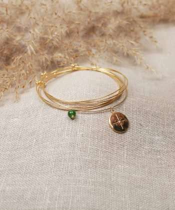 R0005 Bracelet Sophia Acier Or