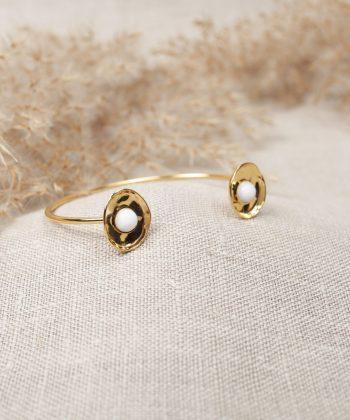 R0042 Bracelet Lilou Acier Or Blanc