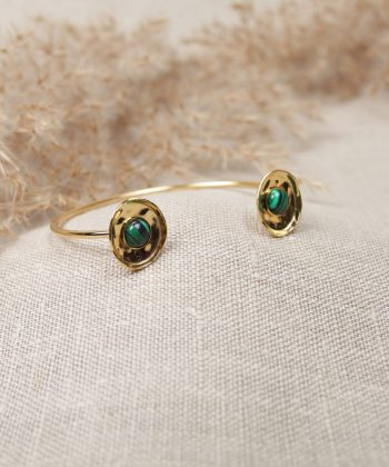 R0042 Bracelet Lilou Acier Or Vert