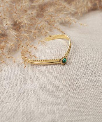 R0043 Bracelet Manon Acier Or Vert Copie