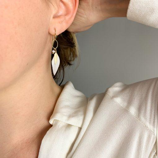 Boucles d'oreilles Ninon - Acier inoxydable Pao Bijoux