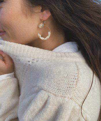 Boucles d'oreilles ESMEE - Acier inoxydable Pao Bijoux