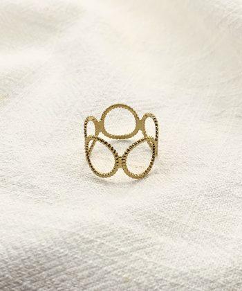 bague charlotte acier inoxydable pao bijoux