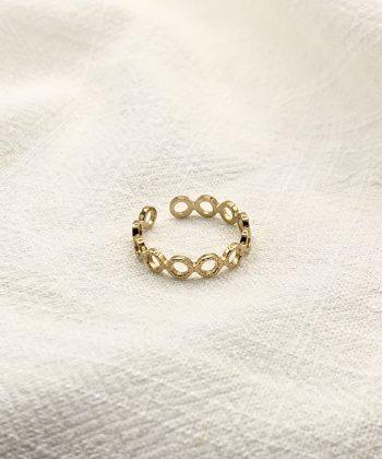 bague mathilde acier inoxydable pao bijoux