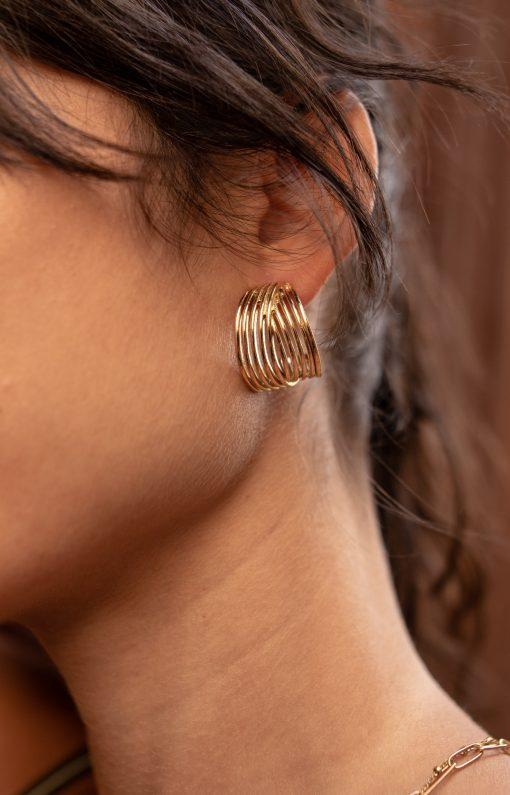 boucles d'oreilles constance acier inoxydable pao bijoux