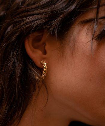 boucles d'oreilles hermione acier inoxydable pao bijoux