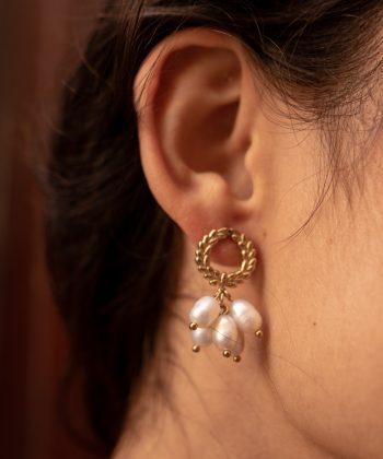 boucles d'oreilles mya acier inoxydable pao bijoux