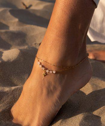bracelet de cheville nélia acier inoxydable pao bijoux 4