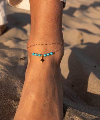 bracelet de cheville nélia acier inoxydable pao bijoux 5