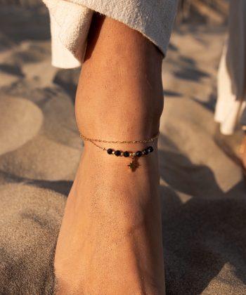 bracelet de cheville nélia acier inoxydable pao bijoux 6