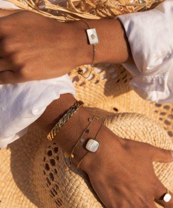 2 agathe bracelet pao bijoux acier inoxydable