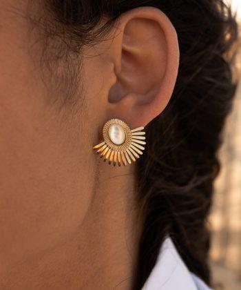 4 chirine boucles d oreilles pao bijoux acier inoxydable