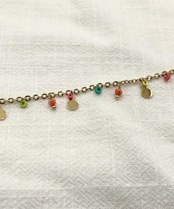 bracelet de cheville floriane acier inoxydable pao bijoux