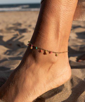 bracelet de cheville floriane acier inoxydable pao bijoux 5