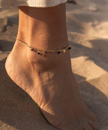 bracelet de cheville floriane acier inoxydable pao bijoux 6