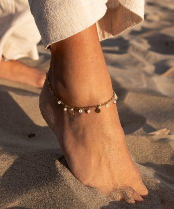 bracelet de cheville floriane acier inoxydable pao bijoux 7