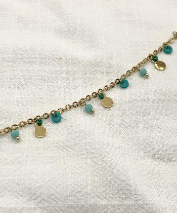 bracelet de cheville florine acier inoxydable pao bijoux 2